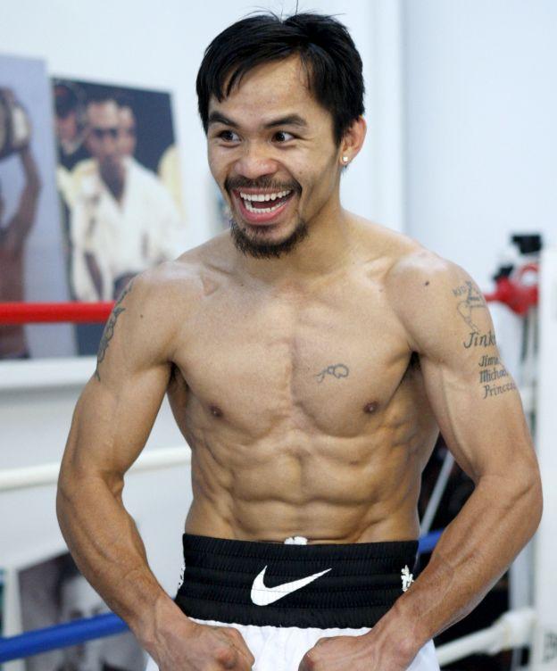 Foto: Pacquiao, con un calzón de Nike (Reuters).