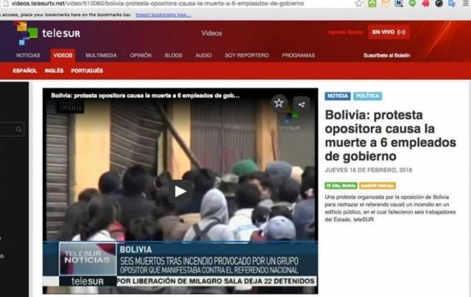 """Telesur informó que """"opositores"""" asesinaron a empleados del Gobierno y ante ola de críticas eliminó su nota"""