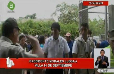 Morales llega al trópico de Cochabamba. Foto: @Canal_BoliviaTV