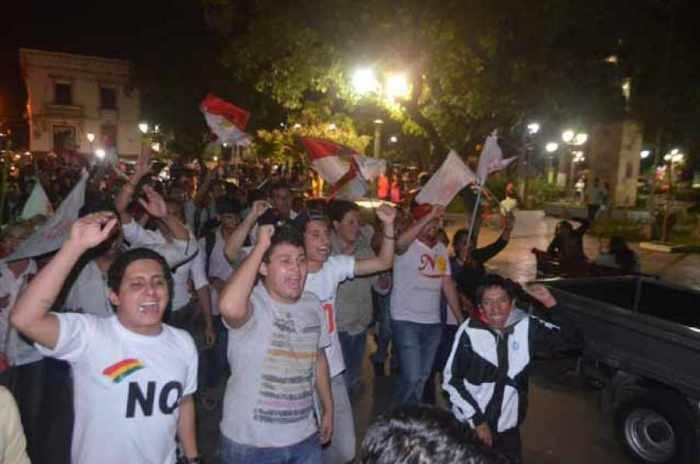 Datos no oficiales, el NO pasa del 60% en Tarija