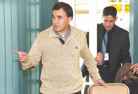 Reunión. El ministro de la Presidencia, Juan Ramón Quintana, ayer.