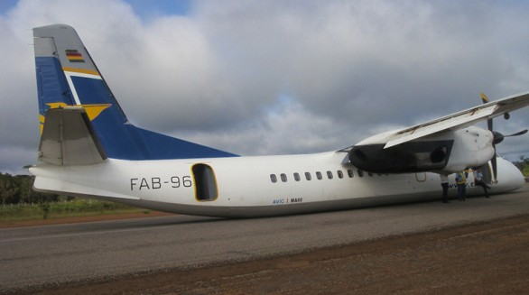 El FAB-96 tras el incidente en Guayaramerín, en 2012. | radiopatuju - Los Tiempos