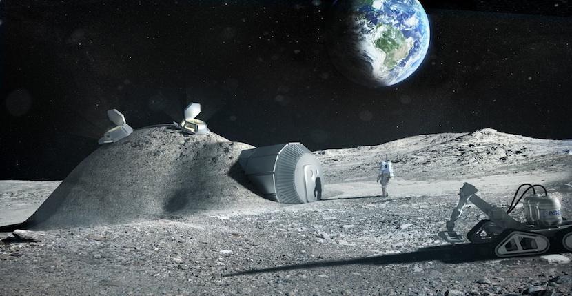 luna ESA quiere ser la primera en construir una base permanente en la Luna