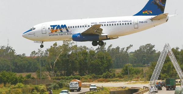 El TAM tiene una flota de siete aeronaves y se las programa de acuerdo con la demanda de pasajeros. Se vienen cambios para la empresa