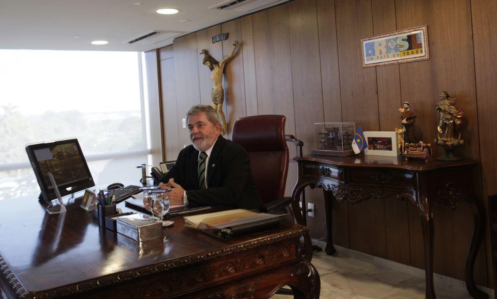 Lula da Silva en su despacho, en 2010.