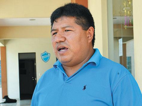 Firmante. Javier Escalera, exchofer del mandatario Evo Morales.