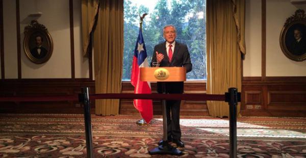 El canciller chileno, Heraldo Muñoz, durante la conferencia de prensa ofrecida este miércoles