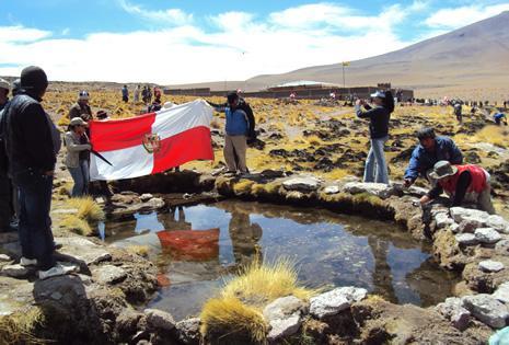 El departamento de Potosí busca aprovechar las aguas del Silala.