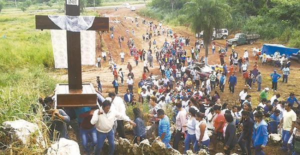 Esta procesión que se realizó en Puerto Quijarro recorrió 12 kilómetros