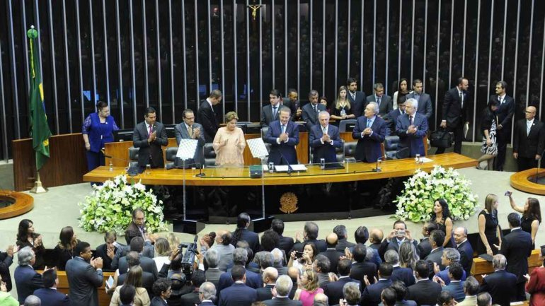 Dilma Rousseff, en el Congreso de Brasil
