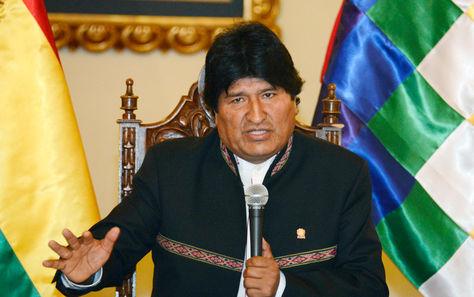 El presidente Evo Morales durante la conferencia de prensa