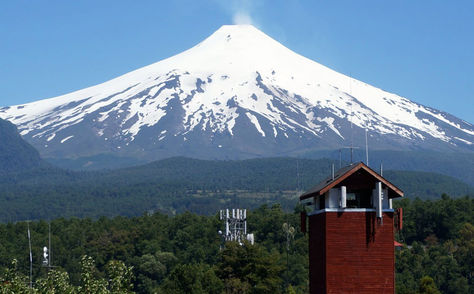 El volcán Villarrica en Chile