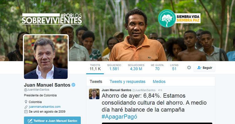 Cuenta Juan Manuel Santos: @JuanManSantos
