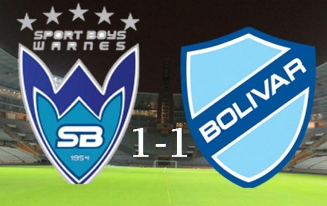 Bolívar logra un empate 1-1 con Sport Boys en Santa Cruz