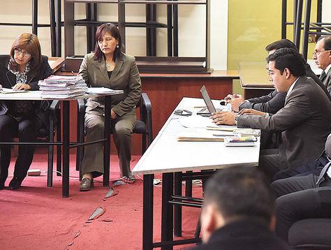Juzgado. La audiencia de medidas cautelares del abogado Milton Mendoza en La Paz, el martes.