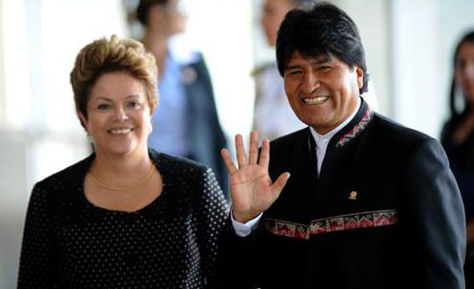 Dilma y Evo