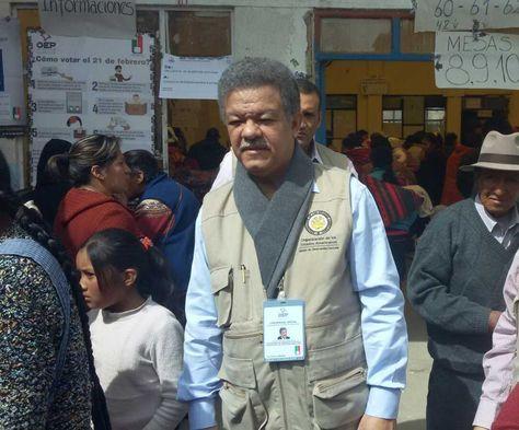 Leonel Fernández, jefe de la misión de observadores de la OEA para el referéndum constitucional. Foto: La Razón