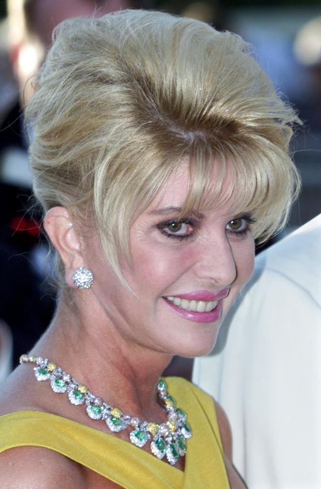 Ivana Trump fotografiada durante el festival de Cannes en el año 2.000.