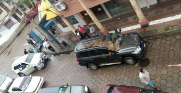 El accidente ocurrido entre las calles Warnes y Cobija