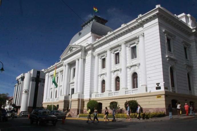 JUSTICIA. La infraestructura del Tribunal Supremo de Justicia en Sucre.