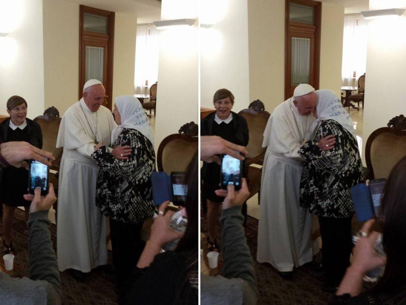 Hebe de Bonafini le dijo al Papa Francisco que en la Argentina hay