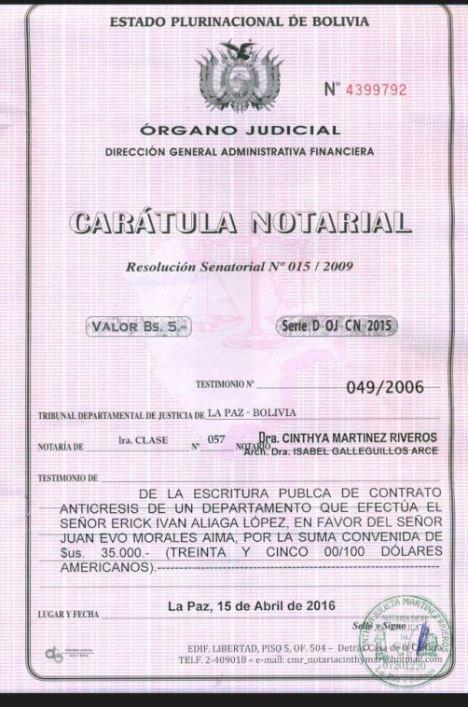 caratula contrato