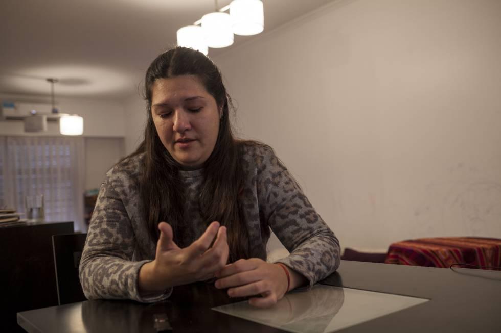Mariela, durante la entrevista