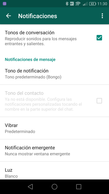 Configurar notificaciones WhatsApp