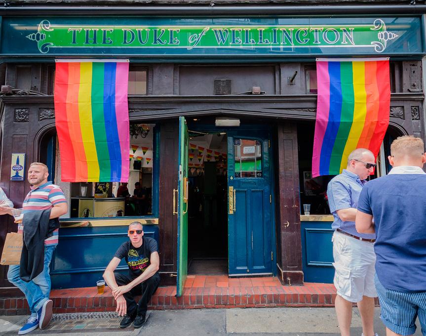 Un bar gay en el Soho londinense.