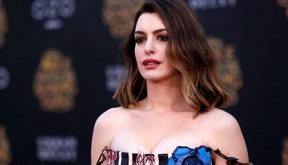 Anne Hathaway el pasado 23 de mayo en la presentación de