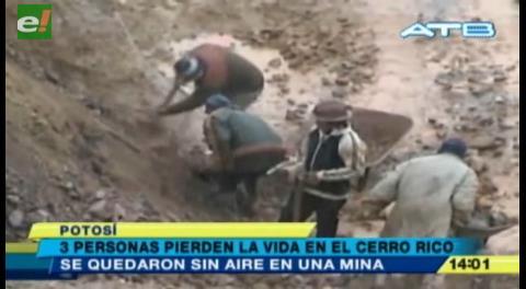 Tres personas pierden la vida en el Cerro Rico de Potosí