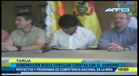 Gobernación de Tarija busca conciliar cuentas con el Gobierno