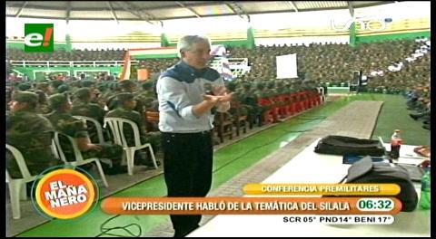 García Linera dictó charla de la reivindicación marítima y el Silala a premilitares en Santa Cruz