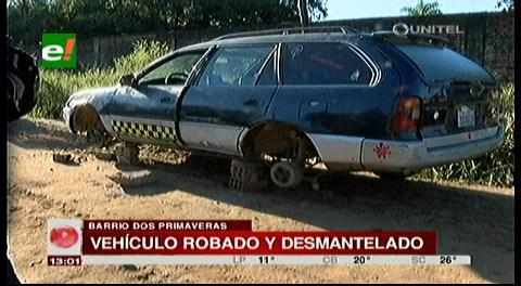 Diprove encuentra vehículo desmantelado que estaba reportado como robado