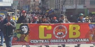 Gobierno condiciona el diálogo a la suspensión del paro y la COB exige presencia de medios de comunicación
