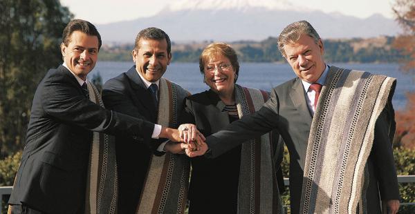 Los mandatarios de Chile, Perú, México y Colombia participaron del evento regional