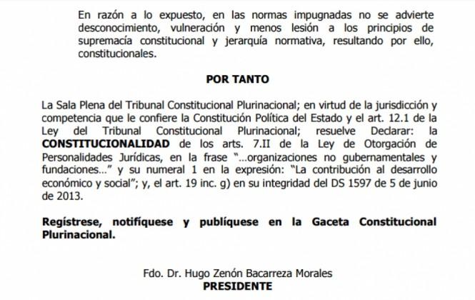 TCP declara constitucional Ley 351 que permite cerrar ONG