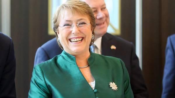 La presidente de Chile, Michelle Bachelet./ Bloomberg