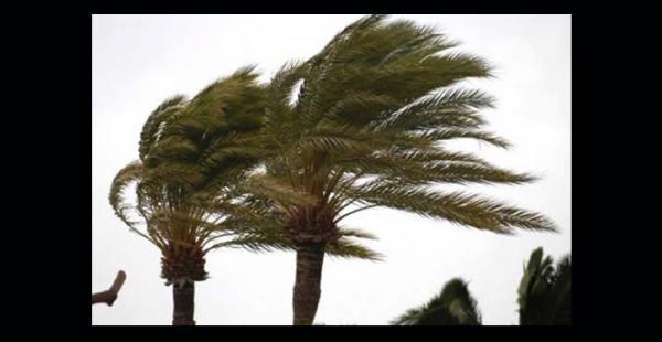 Los fuertes vientos seguirán hasta mañana en Santa Cruz