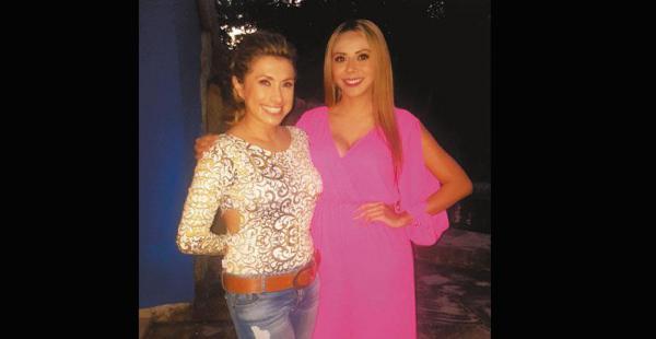 BIEN ENTRETENIDAS Grisel junto a Karen Barrancos