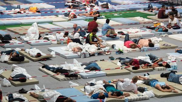 Refugiados. Escena de archivo de un centro de inmigrantes de Baviera, en Alemania. La Unión Europea busca reducir su llegada (DPA).