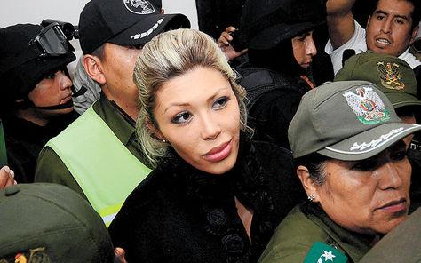 Gabriela Zapata en juzgados. Foto: APG - archivo