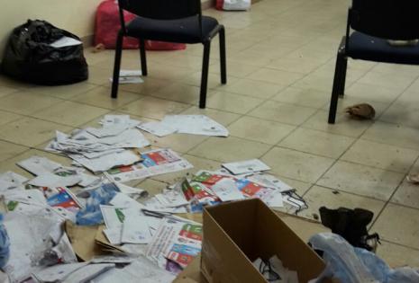 Así están las oficinas de la Corte Electoral este jueves