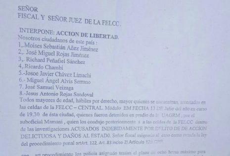 La lista de los detenidos