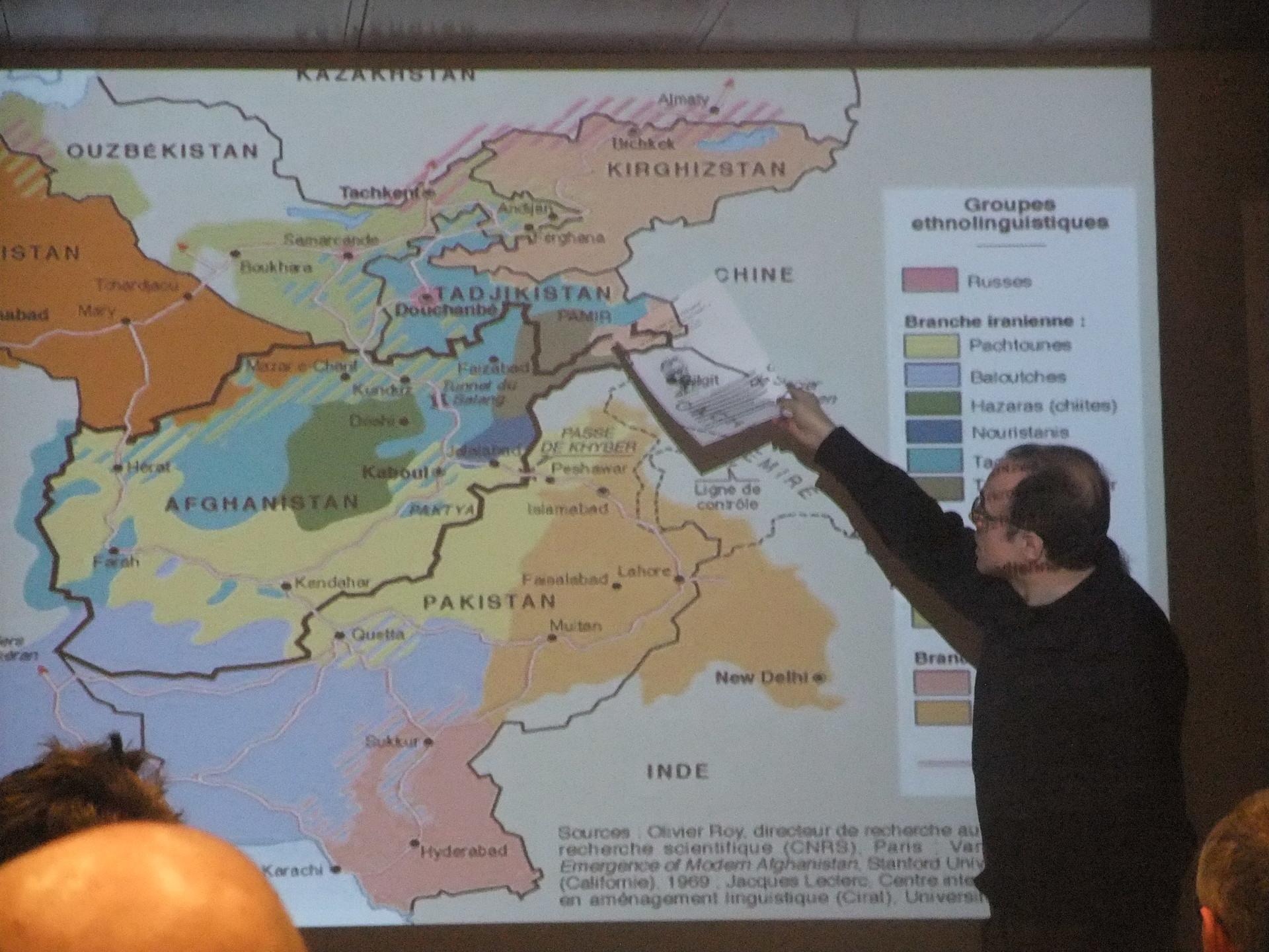 Fernando Moragón durante una ponencia en Madrid