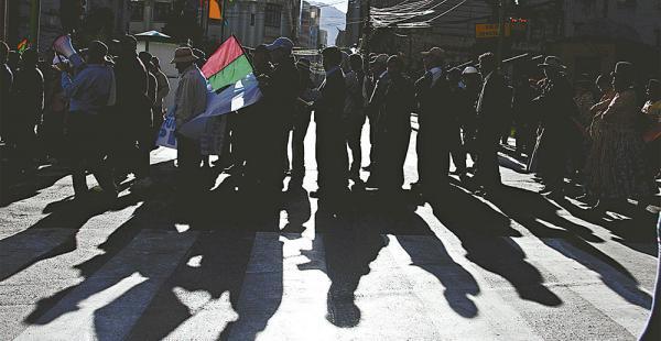 Las movilizaciones en La Paz son permanentes. Está ocurrió el 13 de julio