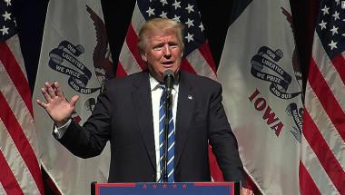 Donald Trump, durante un evento en Iowa el jueves.