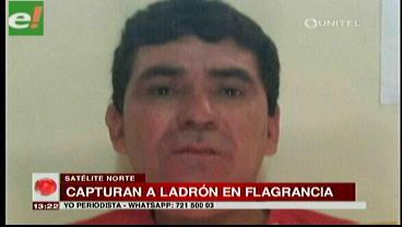 Capturan a ladrón reincidente en flagrancia