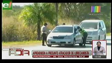 Detienen a presunto atracador de librecambista en Puerto Quijarro