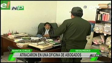 Atracaron en una oficina de abogados